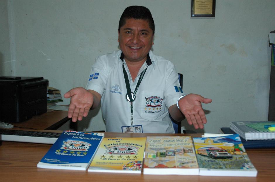 Juan Carlos Martínez es el director de la escuela de español La Unión y autor de los libros Qué onda vos? y Español en Latinoamérica. (Foto: Fredy Hernández/Soy502)