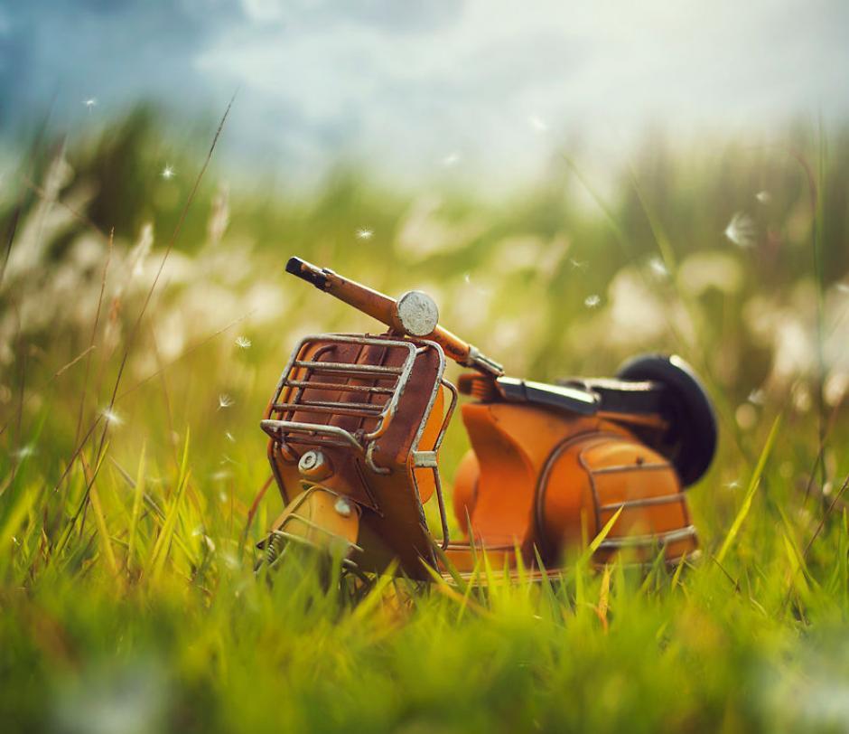 """Aquí utilizó el pasto para recrear una escena de """"sueños de verano"""" de acuerdo al autor. (Foto: Ashraful Arefin)"""