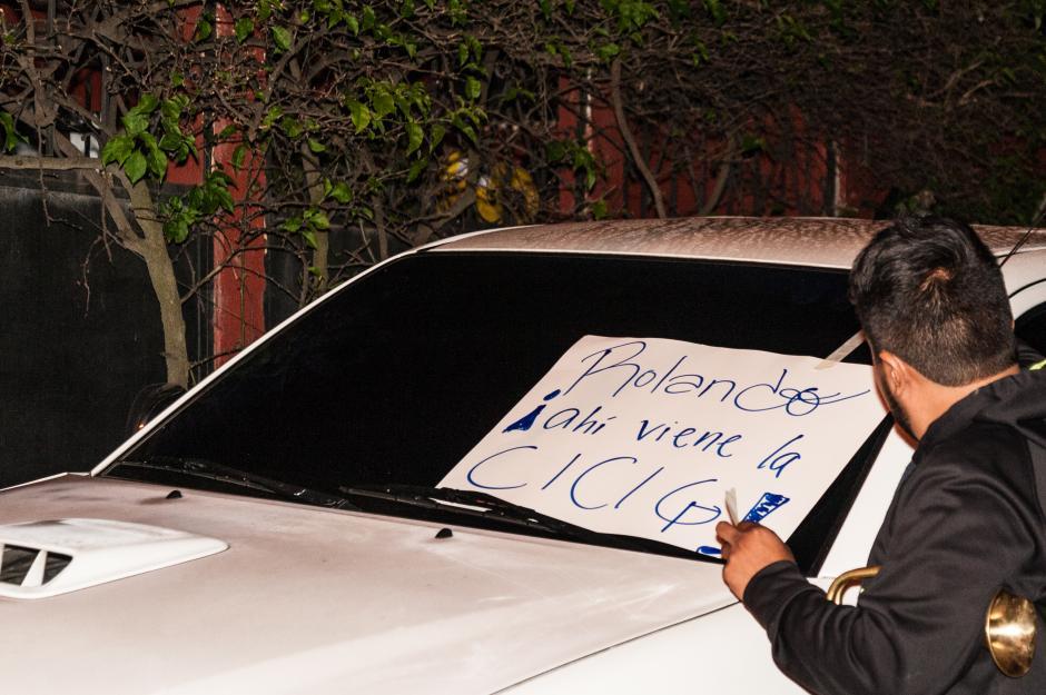 La casa del diputado Rolando Pérez también fue blanco de protestas. (Foto: Colectivo Jóvenes de Guatemala)