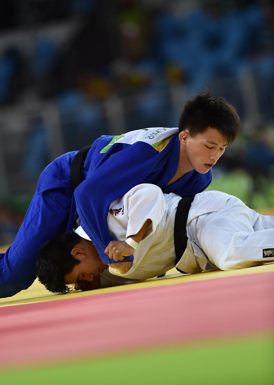 Ramos cayó contra Tsogtbaatar Tsend-Ochir, de Mongolia. (Foto: Sergio Muñoz/Enviado ACD)