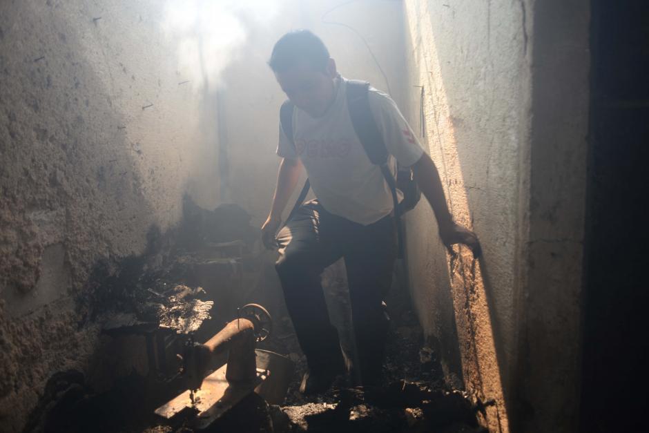El fuego se lo llevó todo. (Foto: Jesús Alfonso/Soy502)
