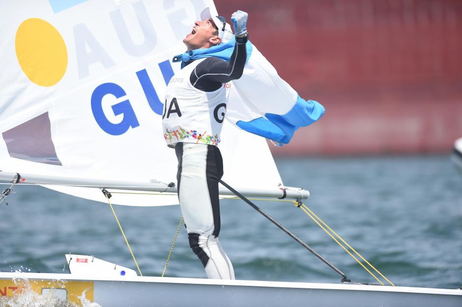 Juan Ignacio Maegli celebra histórico el triunfo en los Juegos Panamericanos. (Foto: Álvaro Yool/ Nuestro Diario)