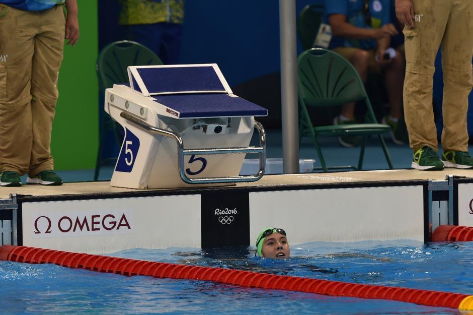 La nadadora guatemalteca disputó sus primeros Juegos Olímpicos. (Foto: Sergio Muñoz/Enviado de ACD)