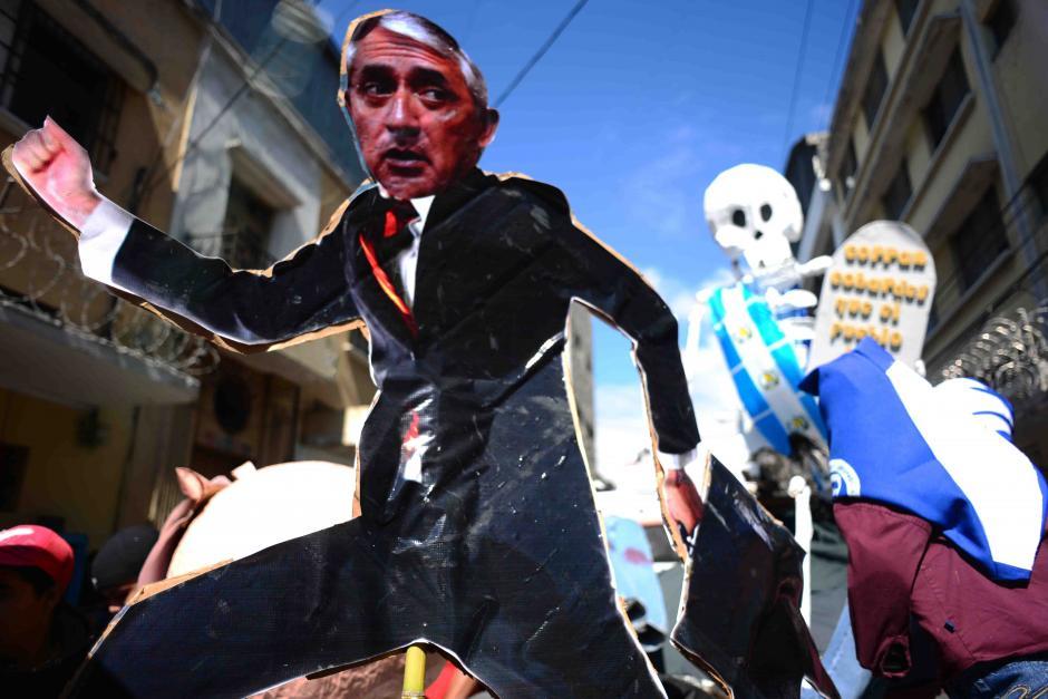 Una de las tantas representaciones de Otto Pérez Molina.(Foto:Jesús Alfonso/Soy502)