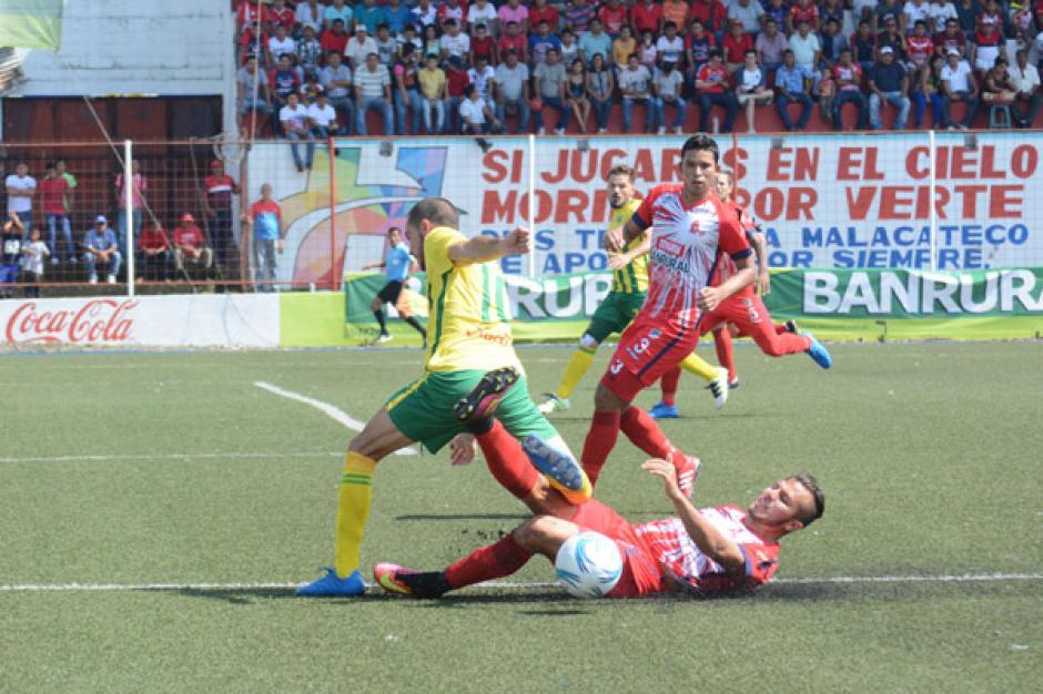 El juego de ida terminó con un 1-0 a favor de Malacateco y el de vuelta sin anotaciones. (Foto: Nuestro Diario)