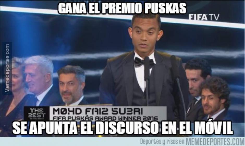 Los memes también recordaron al premio Puskás. (Foto: Twitter)