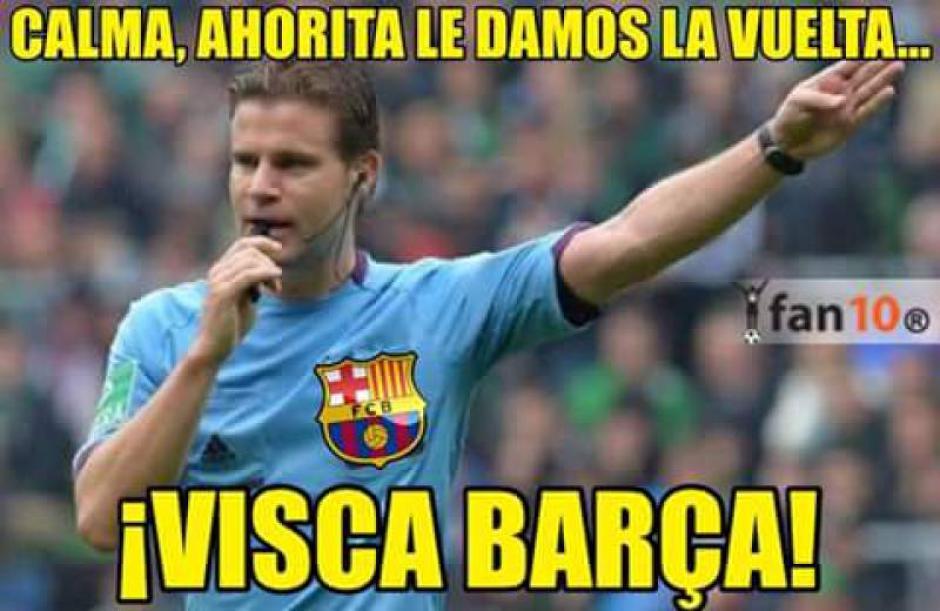 Muchos criticaron al árbitro, al considerar que ayudó al Barcelona. (Imagen: memedeportes.com)