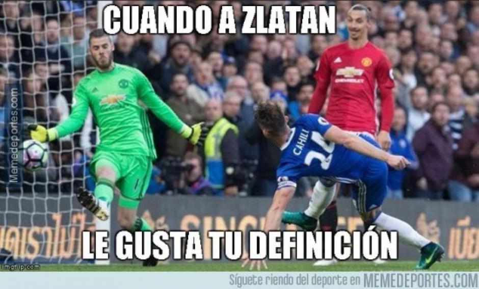 Zlatan también apareció en las burlas de los aficionados. (Foto: Twitter)