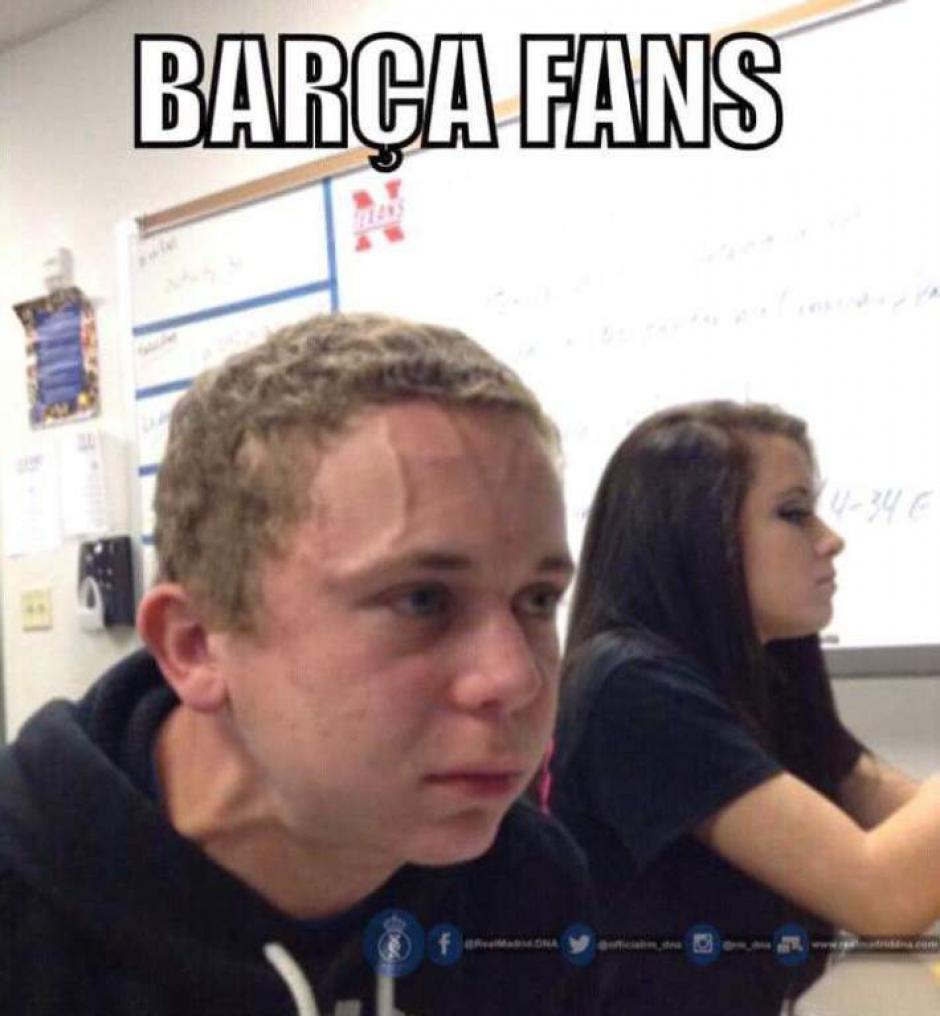 Los seguidores del Barça al ver que el premio fue para CR7.  (Foto: Twitter)