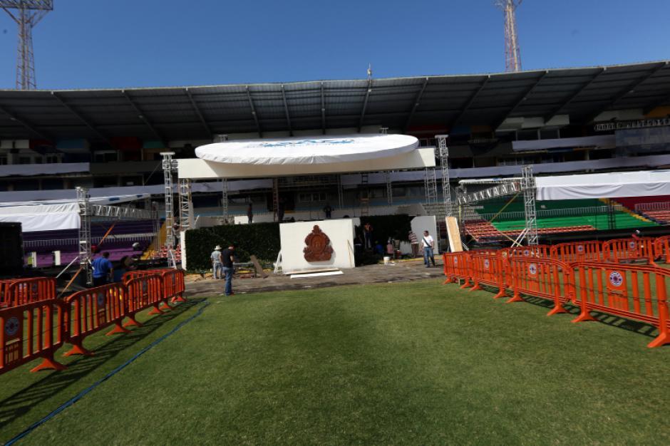 La sesión de toma de Posesión se realiza en el Estadio Nacional de Honduras. Foto: LaPrensahn