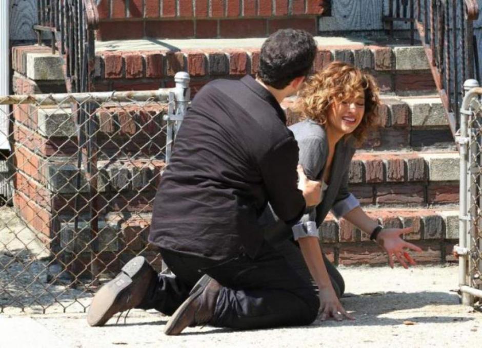 La neoyorquina finalizó con una herida en la mano por la cual incluso derramó sangre. (Foto: elheraldo.hn)