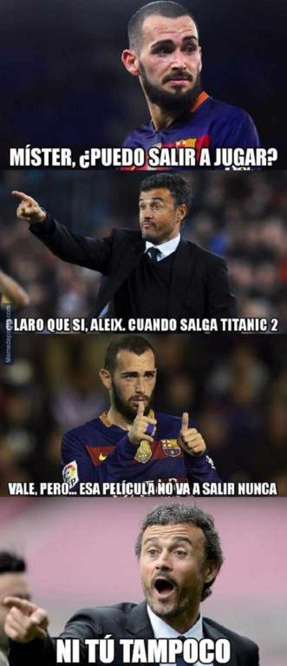Aleix Vidal no se libró de las críticas y burlas de la afición. (Foto: Twitter)
