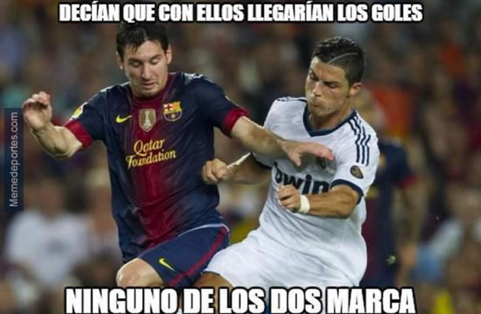 "Tanto Messi como CR7, ambos iniciaron el torneo de Liga con ""la pólvova mojada"". (Imagen: laprensa.hn)"