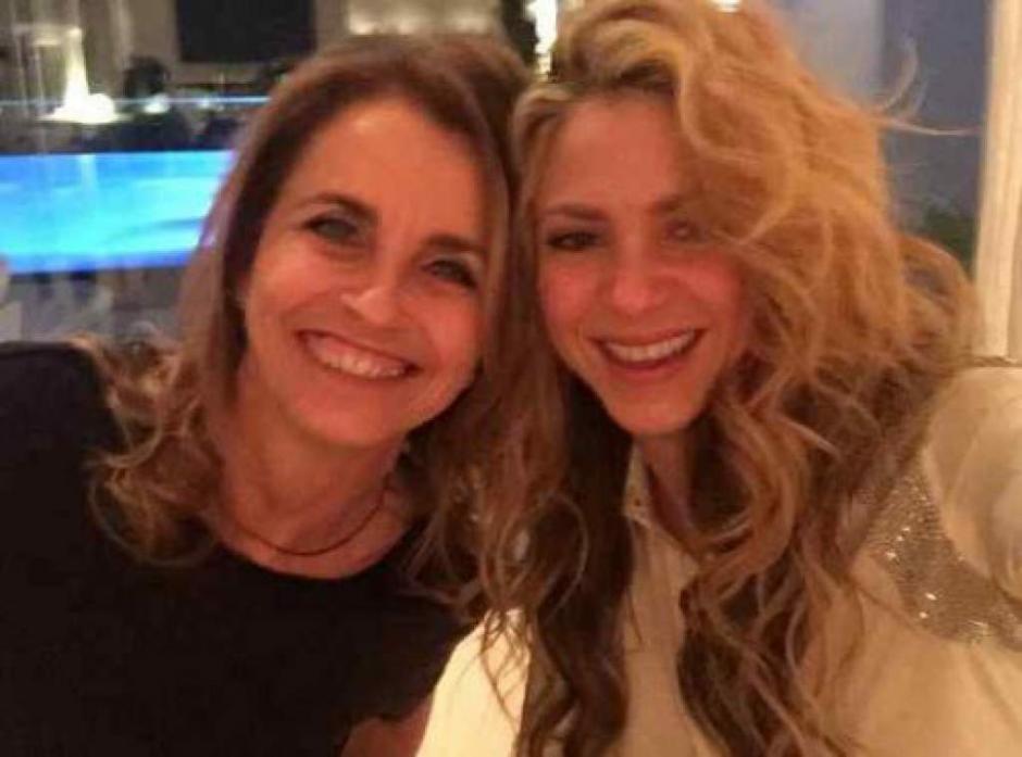 Shakira y su suegra llevan una buena relación familiar. (Foto: Twitter Shakira)