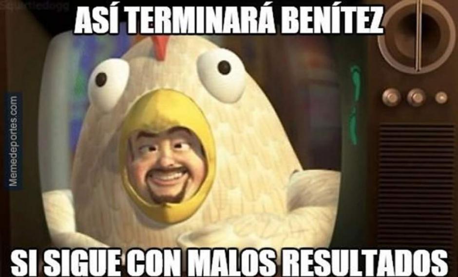 Rafa Benítez ya comienza a ser víctima de burlas por parte de los usuarios de redes sociales. (Imagen: laprensa.hn)