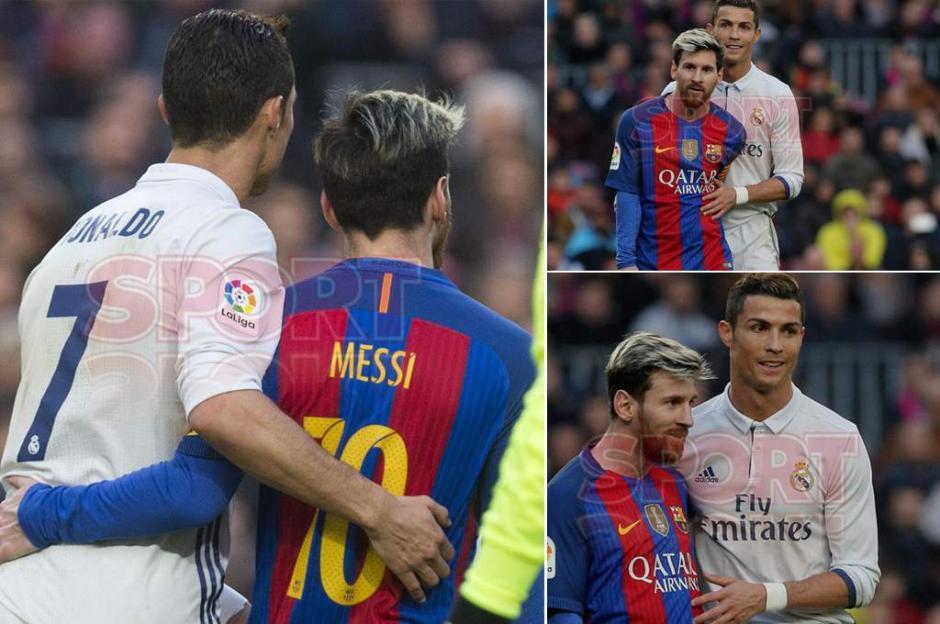 Desde todos los ángulos está claro que Messi y CR7 se llevan bien. (Foto: Sport)