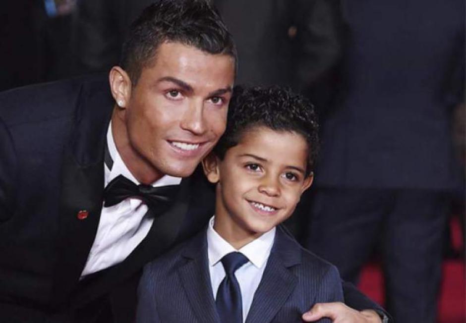 Cristiano Ronaldo y Cristiano jr foto