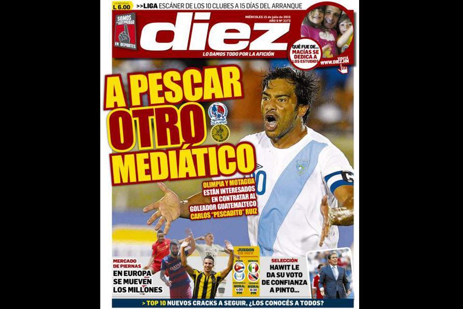 """Según la prensa hondureña Carlos """"el Pescado"""" Ruiz podría migrar al fútbol catracho"""