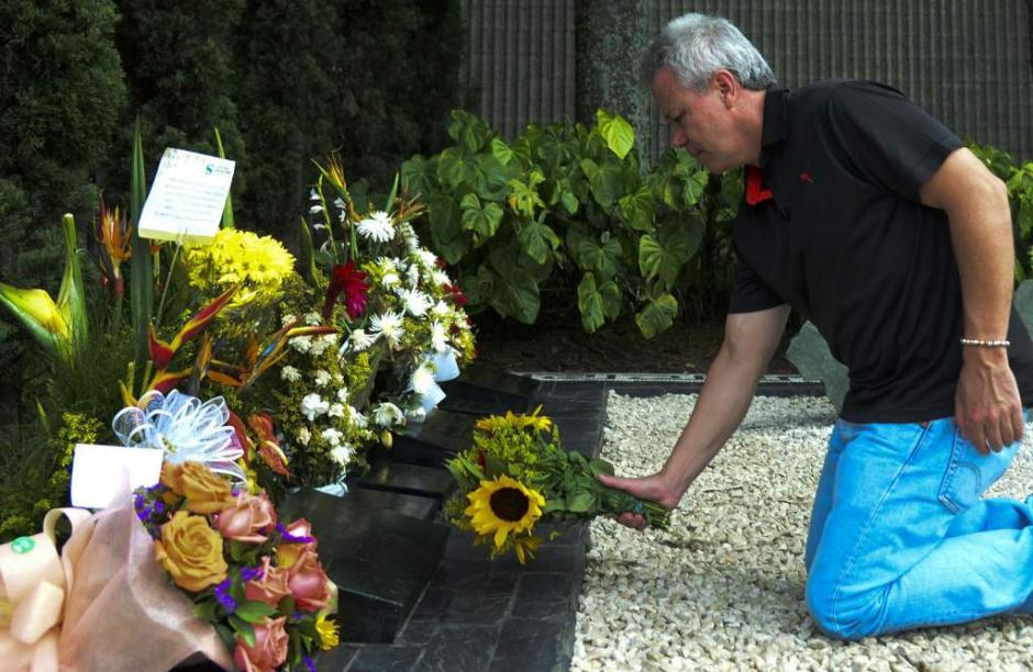 """""""Popeye"""" conmemoró la muerte de su patrón y amigo. (Foto: AFP)"""