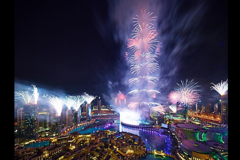 Celebración del Año Nuevo en Dubái en los Emirates Árabes. (Foto: Gerard Donovan/Dubai)