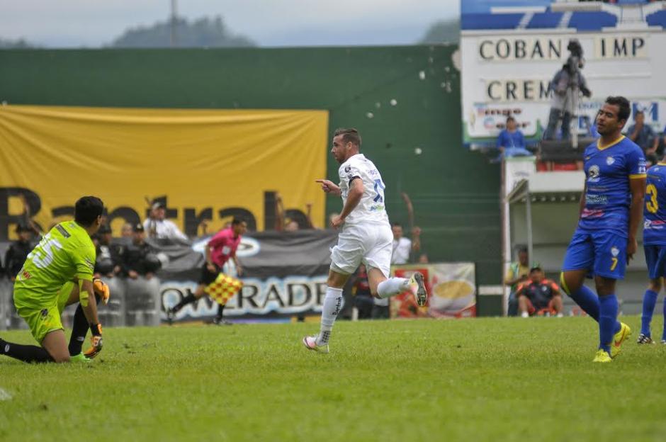 Emiliano López marcó el único gol del partido que le dio el triunfo a Comunicaciones. (Foto: Nuestro Diario)