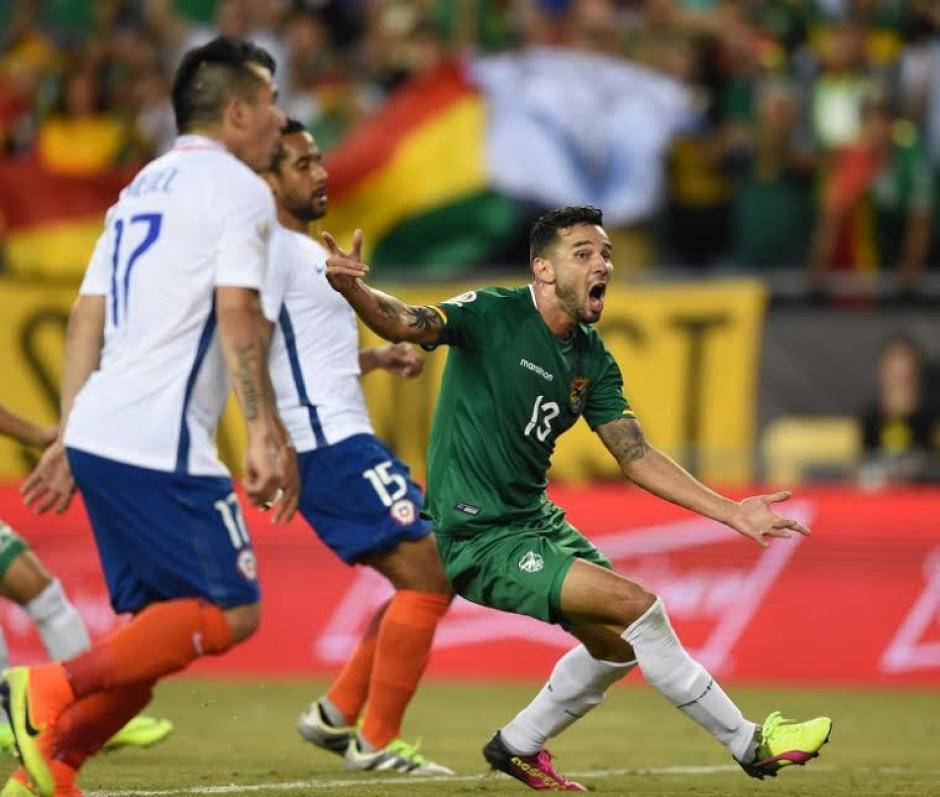 Yasmani Campos, grita a todo pulmón su gol contra Chile. (Foto: AFP)