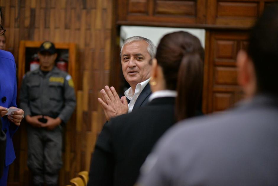 Durante la jornada 12 de audiencia de primera declaración algunos de los sindicados estuvieron sonrientes. (Foto: Wilder López/Soy502)