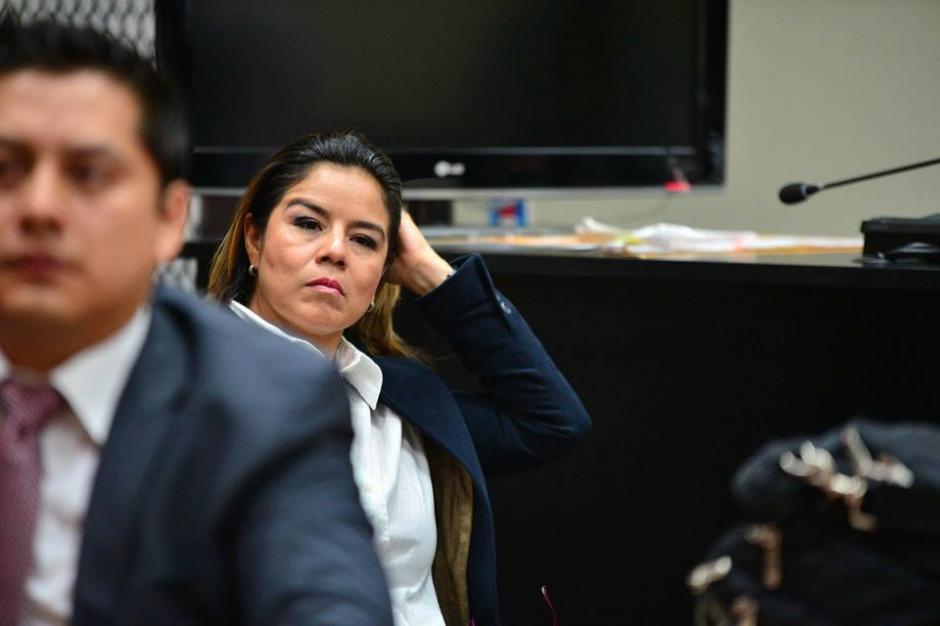 Claudia Méndez, la exintendente de aduanas en el juzgado de Mayor Riesgo. (Foto: Wilder López/Soy502)