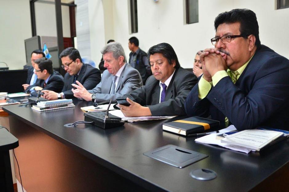 Este es el espacio para la fiscalía y los querellantes en el caso. (Foto: Wilder López/Soy502)