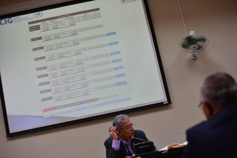 Salvador Estuardo González explica al juez sobre los documentos de la computadora. (Foto: Wilder López/Soy502)