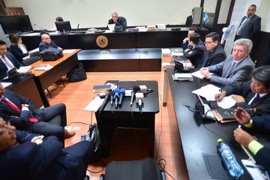 Así la vista del Juzgado de Mayor Riesgo B que sigue el caso La Línea. (Foto: Wilder López/Soy502)