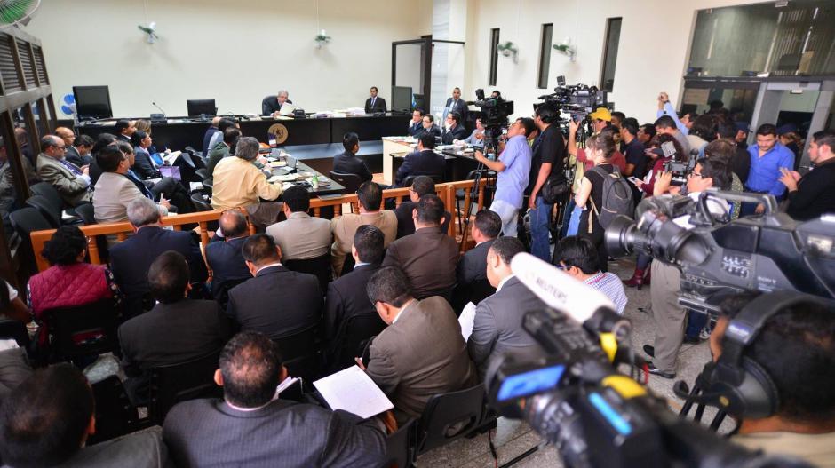 La sala se hace cada vez más pequeña con el caso La Línea. (Foto: Wilder López/Soy502)