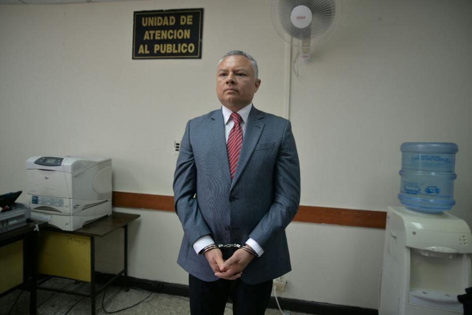 """El juez Mynor Moto benefició a """"Eco"""" con el criterio de oportunidad. (Foto: Wilder López/Soy502)"""