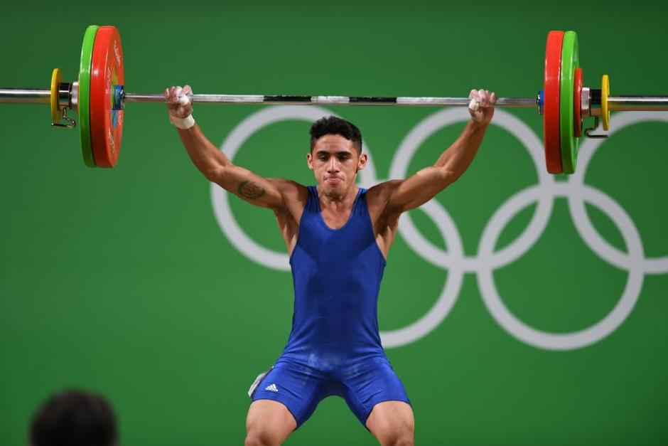 Edgar hizo 108 kg en la prueba de arranque y 143 en envión. (Foto: Aldo Martínez/Enviado especial Nuestro Diario)