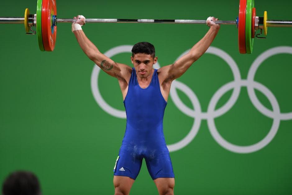 El guatemalteco levantó 143 kg en la prueba de envión. (Foto: Aldo Martínez/Enviado especial Nuestro Diario)