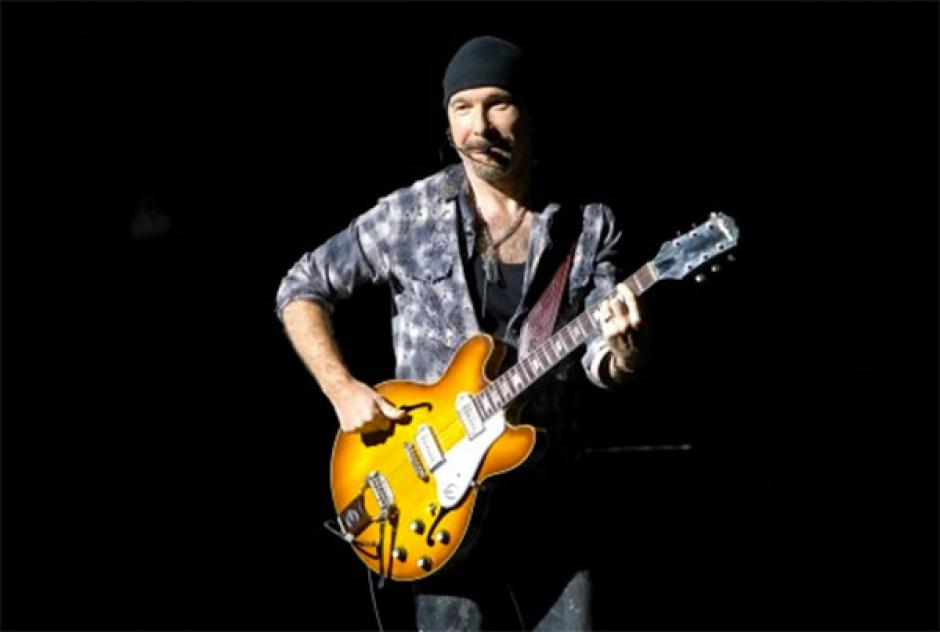 The Edge es guitarrista de la banda de rock U2. (Foto: zocalo.com.mx)