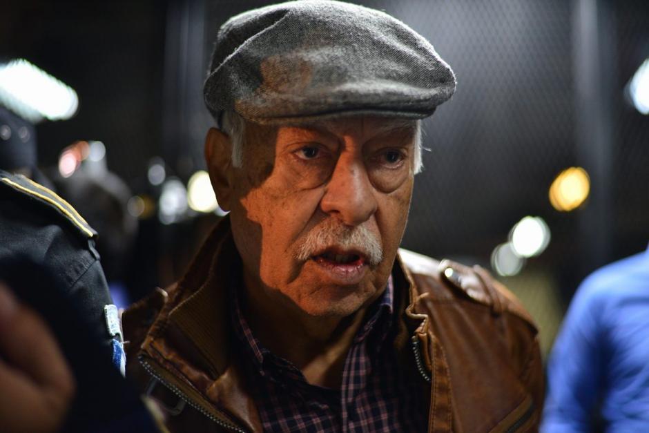 Edilberto Letona Linares de 78 años, otro de los capturados esta mañana. (Foto: Wilder López/Soy502)