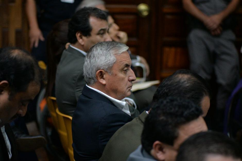 Otto Pérez Molina ha escucha y rechazado toda implicación en el caso Cooptación del Estado. (Foto: Wilder López/Soy502)