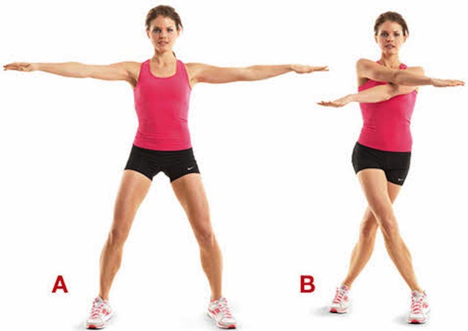 De pie, con las piernas separadas haz círculos con los brazos estirados en cruz. (Foto: thefitindian.com)