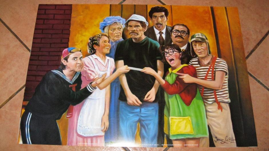 """Los personas de la vecindad de """"El Chavo del 8"""". (Foto: anim-arte.com)"""