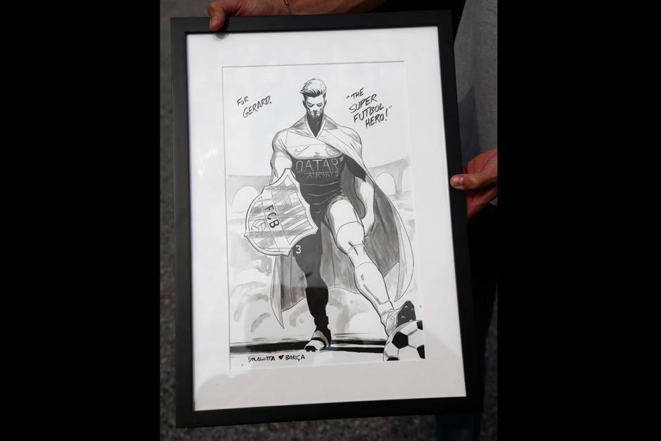 Gerard Piqué fue dibujado como uno de los superhéroes de Marvel Comics