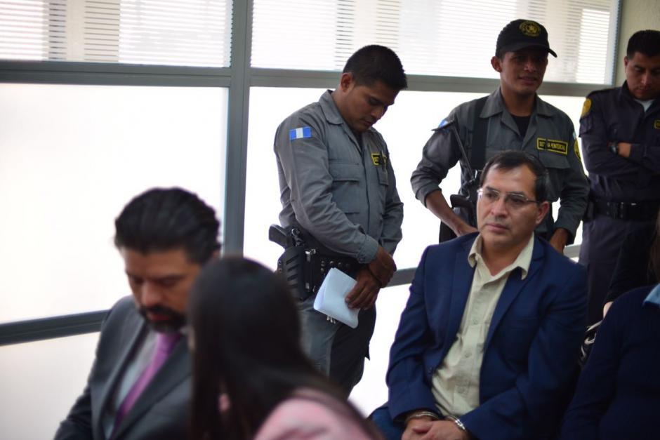 Los implicados en el caso El Bodegón antes de iniciar la audiencia. (Foto: Jesús Alfonso/Soy502)