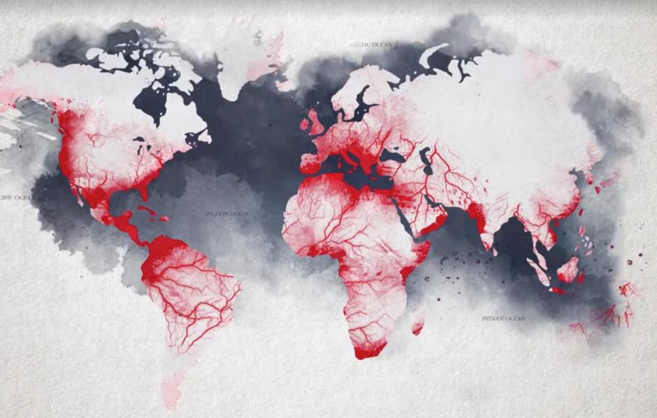 Los países a donde extendió sus redes de narcotráfico. (Captura de pantalla: Netflix/Facebook)