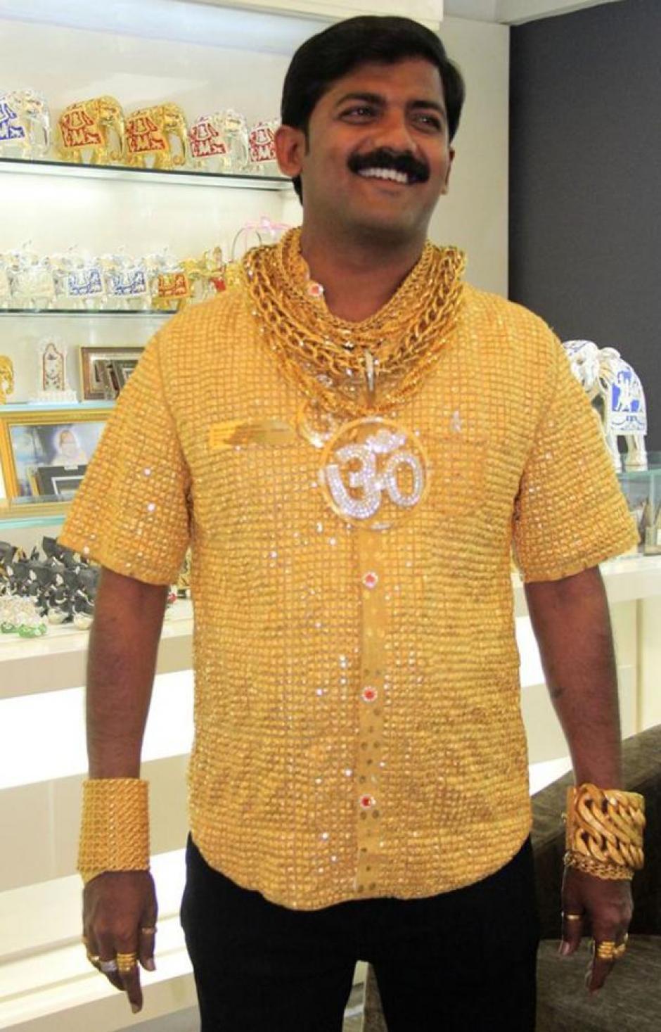 2 millones de quetzales pagó Datta Phuge por su camisa hecha de oro puro. (Foto: bbc.com)
