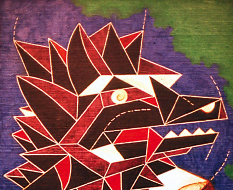"""""""El Lobo"""", pieza realizada en 1981. (Foto: Luis Díaz exclusivo para Soy502)"""