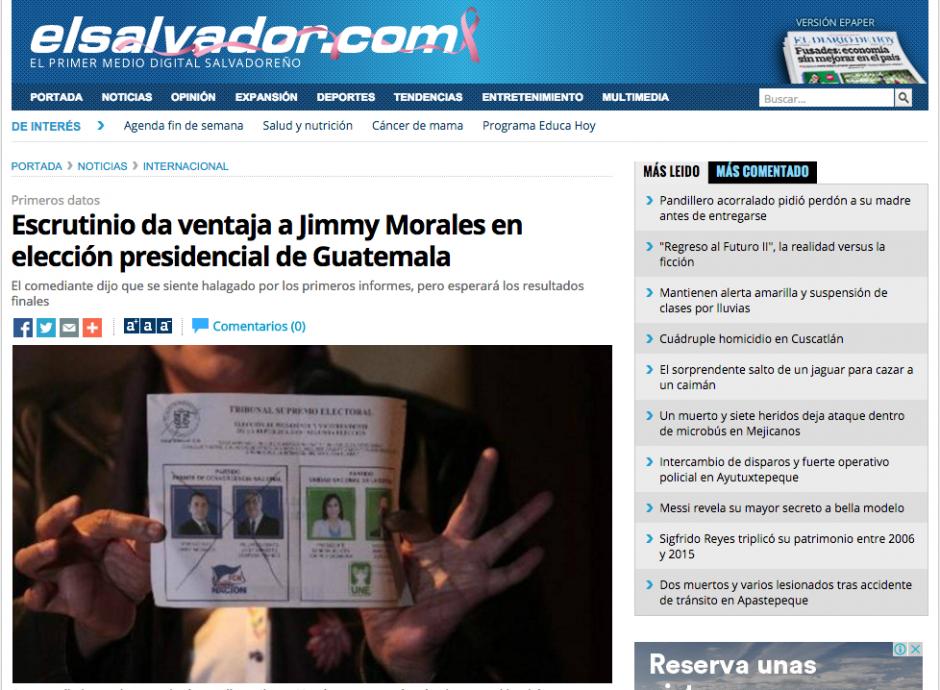 Los medios centroamericanos también hacen mención de los resultados electorales.
