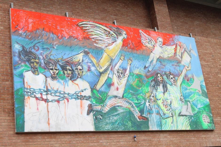 Esta es la pieza que dejó en Guatemala. (Foto: UFM)