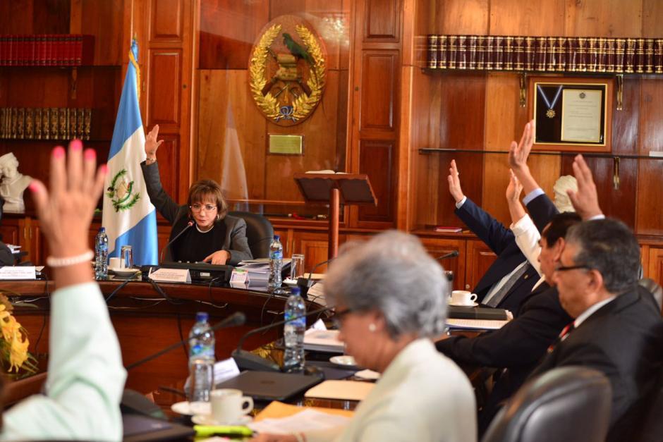 Los magistrados retrasaron la elección del nuevo presidente de la CSJ. (Foto Jesús Alfonso/Soy502)