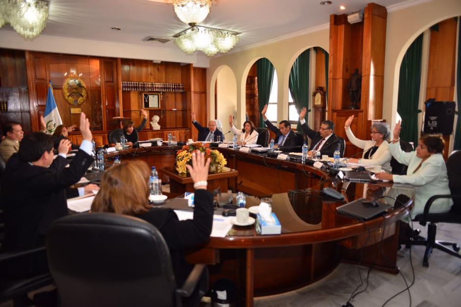 Los magistrados hicieron una consulta a la CC, ya que el pleno no se integra por la ausencia de Blanca Stalling. (Foto: Jesús Alfonso/Soy502)