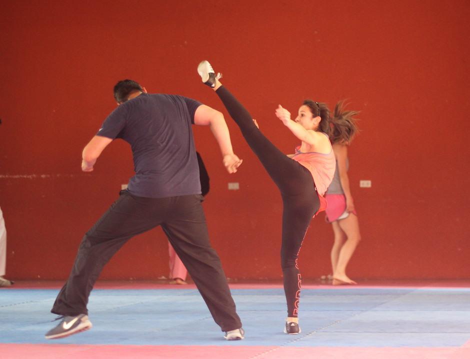 Elizabeth Zamora ya entrena con toda normalidad tras un año de su lesión. (Foto: Luis Barrios/Soy502)